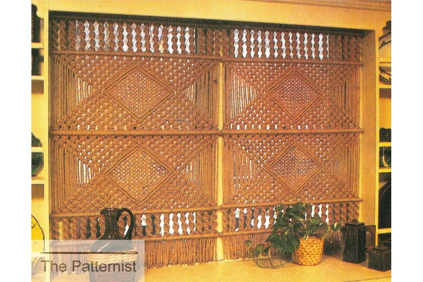Vintage Macrame curtain pattern Patternist
