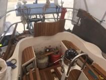 new teak in cockpit 1