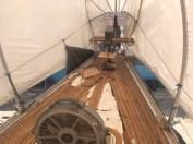 teak on forward deck
