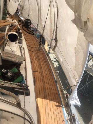 New teak starboard