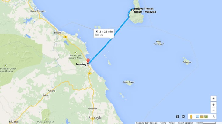 How to get to Mersing for a ferry ride to Tioman Island