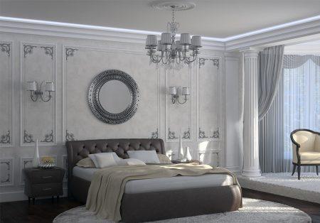Классицизм в интерьере спальни