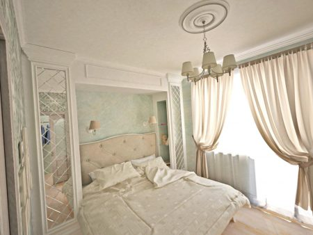 Классическая спальня маленькой площади