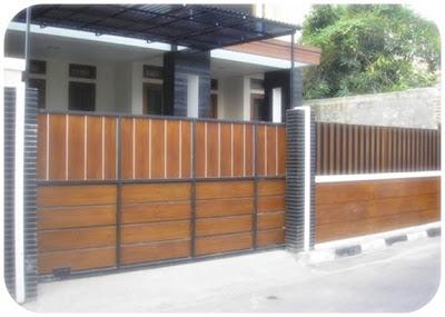 pagar rumah minimalis kayu