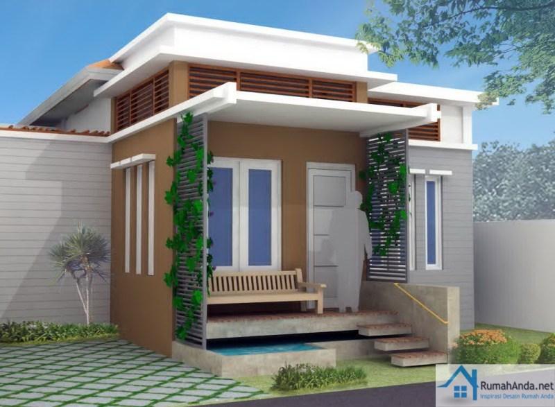 Gambar Rumah Minimalis Type 36 dengan Mini Taman