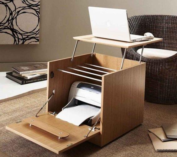 Meja Laptop dengan Set Printer