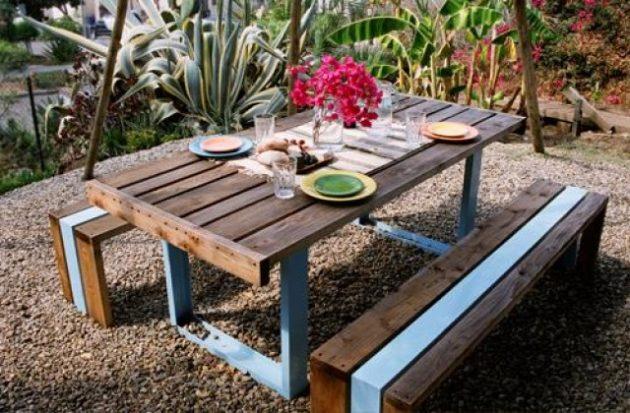 Meja Taman Rumah Minimalis