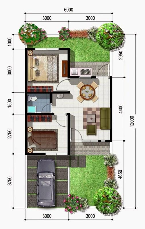 Gambaran Denah Rumah Minimalis Type 21