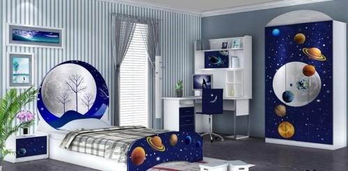 Kamar Tidur Minimalis Cat Warna Biru