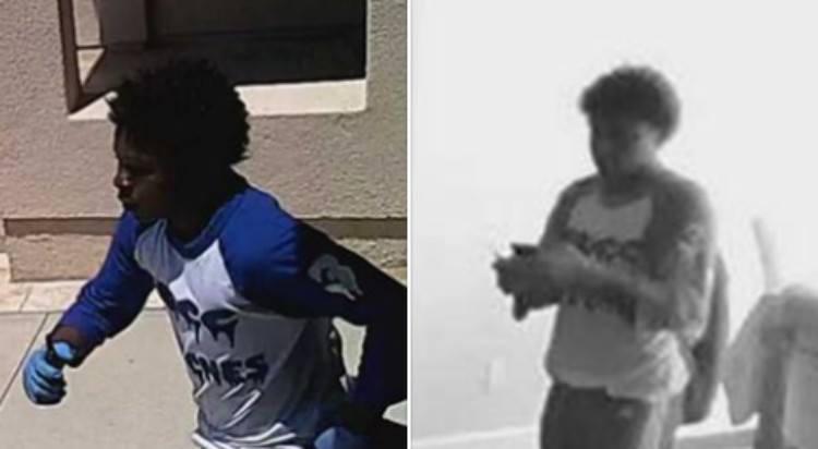 splitscreen image of robber