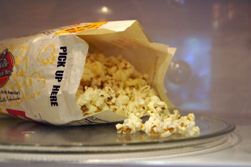 how to make microwave popcorn without