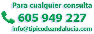 Teléfono y e-mail para 'Típico de Andalucía'