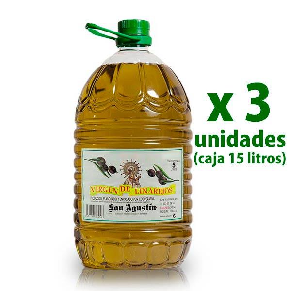 Aceite Linarejos, oliva virgen extra, pet 5 l x 3