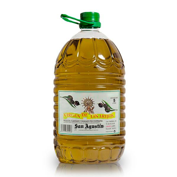 foto de una garrafa de 5 litros de aceite linarejos