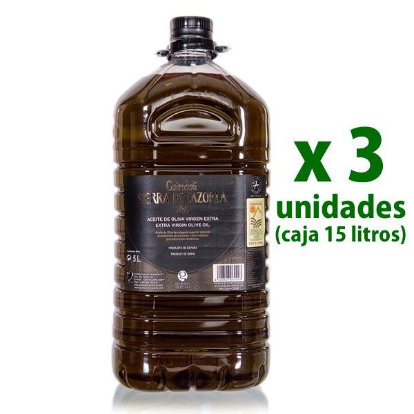 garrafa 5 litros x 3 uds aceite sierra de cazorla
