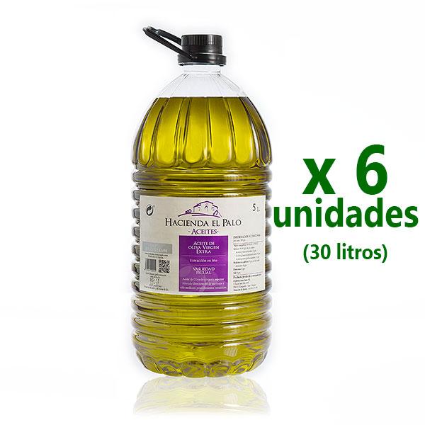 Aceite Hacienda El Palo, oliva virgen extra, pet 5 l x 6 uds [D]