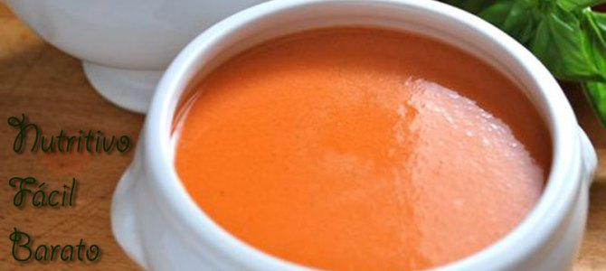 Plato tradicional: Gazpacho, el clásico de cada verano, barato, nutritivo y fácil.