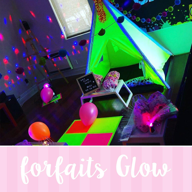 fête glow pour enfant