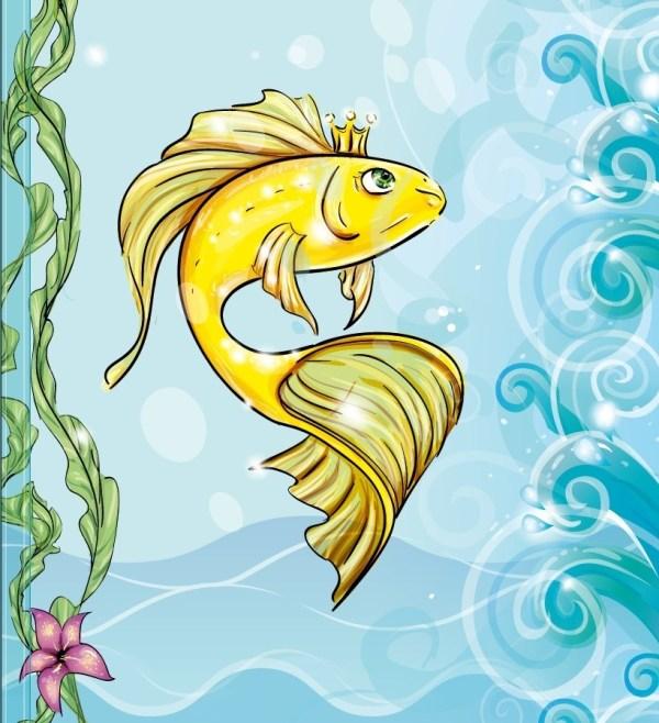 Сказочные рыбки картинки для детей - рисунки