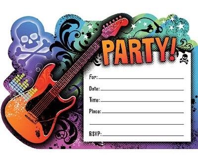 Скачать картинки в стиле рок с днем рождения - открытки