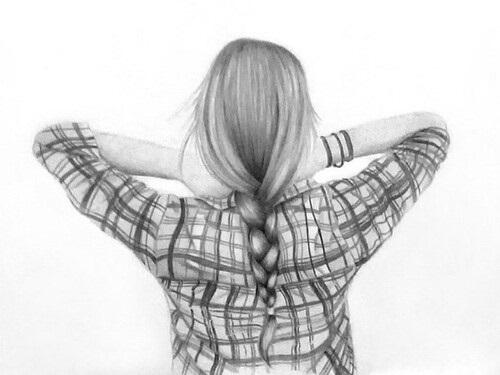 Картинки девушек карандашом со спины - сборка фото