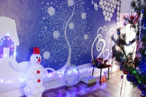 Украшение зала на новый год в детском саду