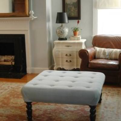 coffee table turned upholstered ottoman