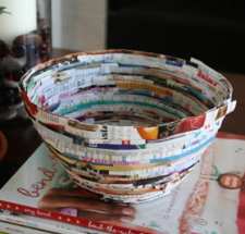 Picture of Magazine Bowl [alittlehut.blogspot.com] - Tipnut.com