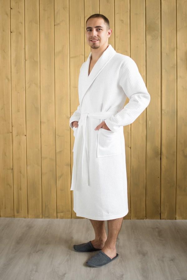 Вафельный халат с индивидуальной вышивкой