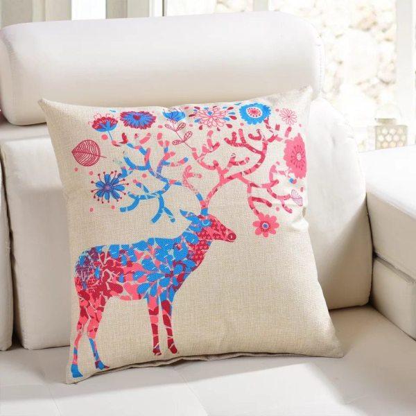 Подушка льняная с печатью (40*40 см)