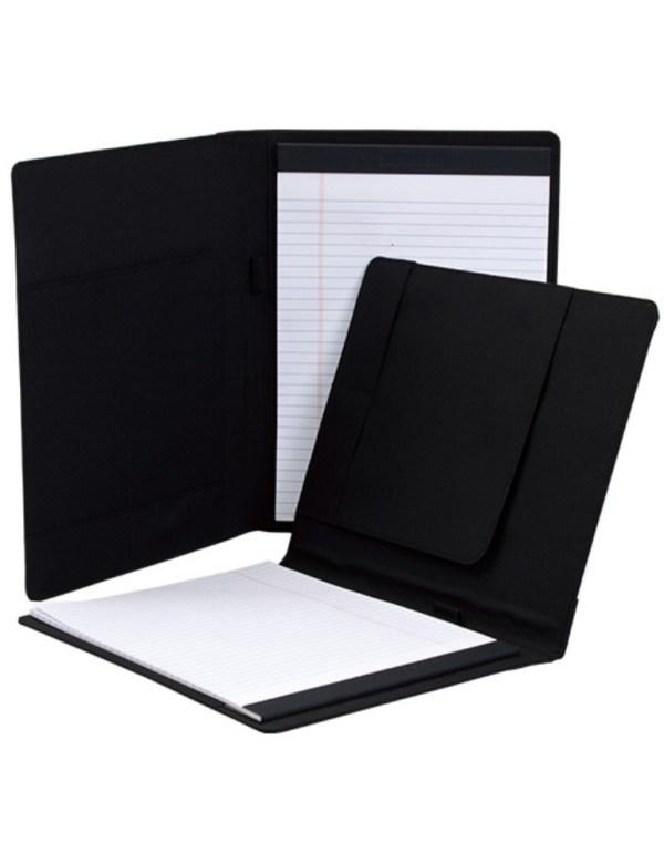 Блокнот текстильный с печатью (Черный)