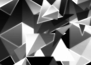 arte cubista triangulos