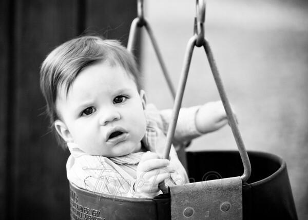 Kaden on the swing