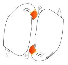 Zahari Hamidon. The Two Birds, Digital Drawing, 2020