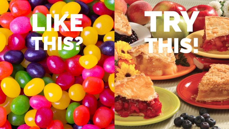 Like jelly beans? Try Tippin's fruit pies!