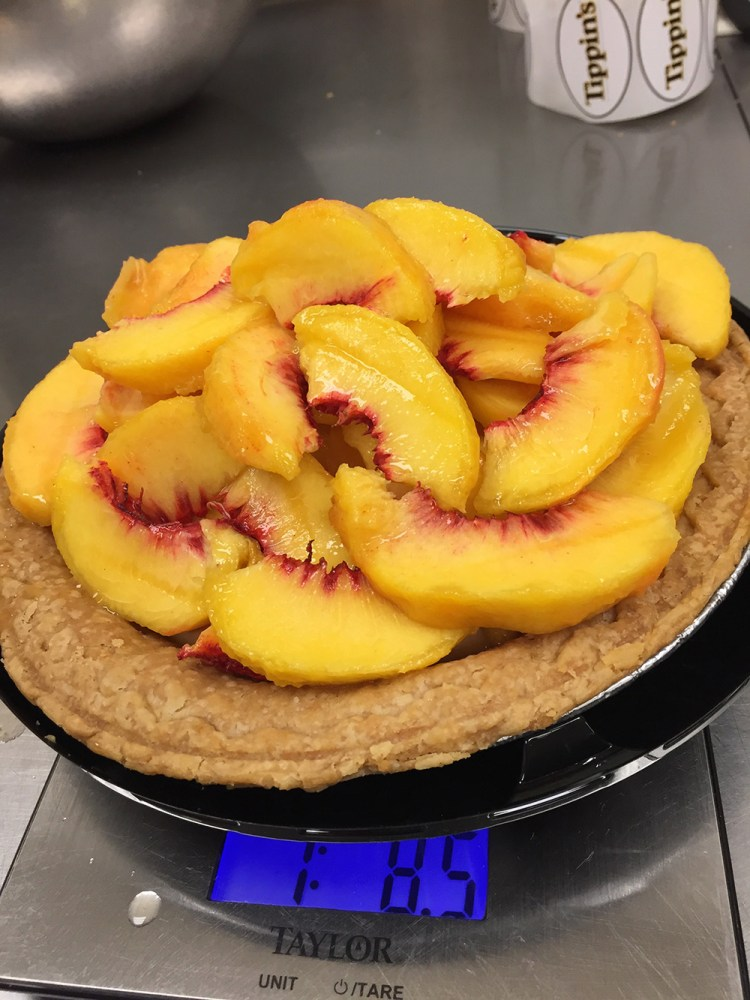 Tippins Peach Cooler Pie loaded with peaches