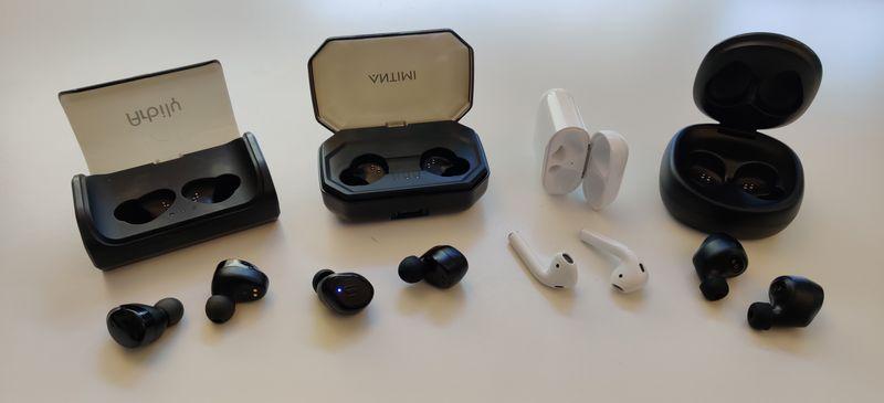 Apple Airpods im Test und Vergleich mit diversen China True Wireless Kopfhörern