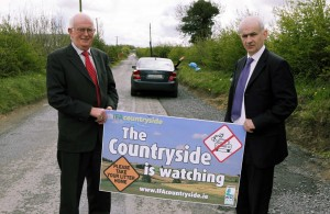 """Pictured at the launch of  IFA's and the farm plastic recycling organisation IFFPG's  national anti-litter initiative """"The Countryside is Watching"""" are (l-r) IFFPG's Chairman Michael Slattery and IFA Deputy President and Countryside Project Team spokesman Eddie Downey"""