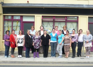 Thurles Education Centre, Students and Staff outside centre