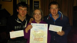 Paudie Meade, Margaret Stanley, and Joe McGrath in Fitzpatrick's Country Club, Clonmore, for the official launch of the Annual Macra Spring Fling, which was well attended by Devil's Bit Club members.