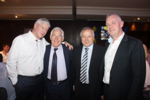 Host and guests: Brian Acheson is pictured with guests Sean Nugent, Eamon Buckley and Nick English at last year's successful Tipperary GAA Corporate Lunch in the Intercontinental Hotel, London. This year's event takes place on Friday 29 May. 