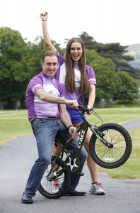 Sean Kelly and Roz Purcell Launch Down Syndrome Ireland Charity Cycle   -Tour de Leinster September 2015-