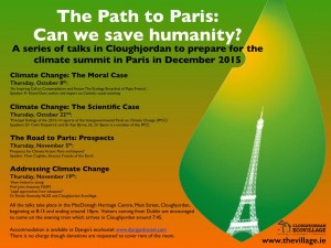 talks on Road to Paris: Can we save humanity? in Cloughjordan