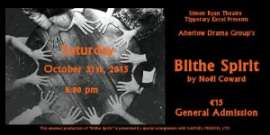 Aherlow Drama Group present Blithe Spirit at Tipperary Excel