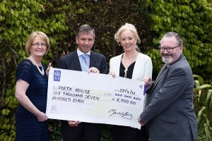 John O'Shaughnessy Managing Director of Clancy Construction, Thurles, helps raise funds for Pieta House