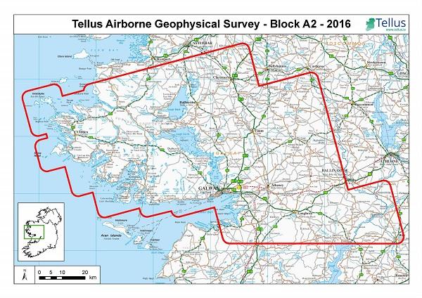 Tellus Survey - Western Ireland Map
