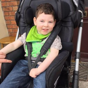 Jarrah Folkman is a happy, bright and loving five year old boy from Cootehill, Co. Cavan who was born in 2011 with Quadriplegic Cerebral Palsy, CVI Blindness and Refractory Epilepsy.
