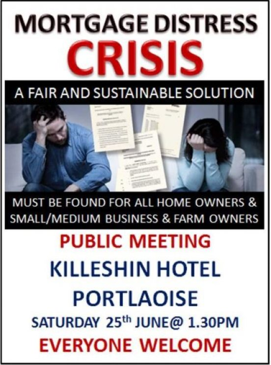 Invitation to Urgent Public Meeting On EVICTIONS in Portlaoise on Saturday 25th June