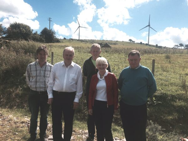 Pictured with Marian Harkin MEP at the Templederry Windfarm were founder members (L to R) Noel Carey, Patrick Donoghue, Greg Allen and John Fogarty.