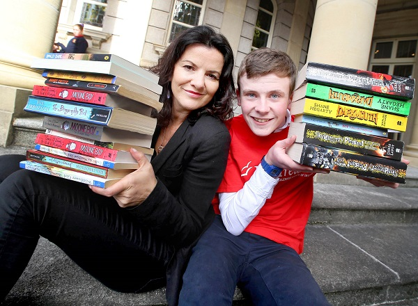 Deirdre O'Kane and David Rawle officially launch the 29th MS Readathon
